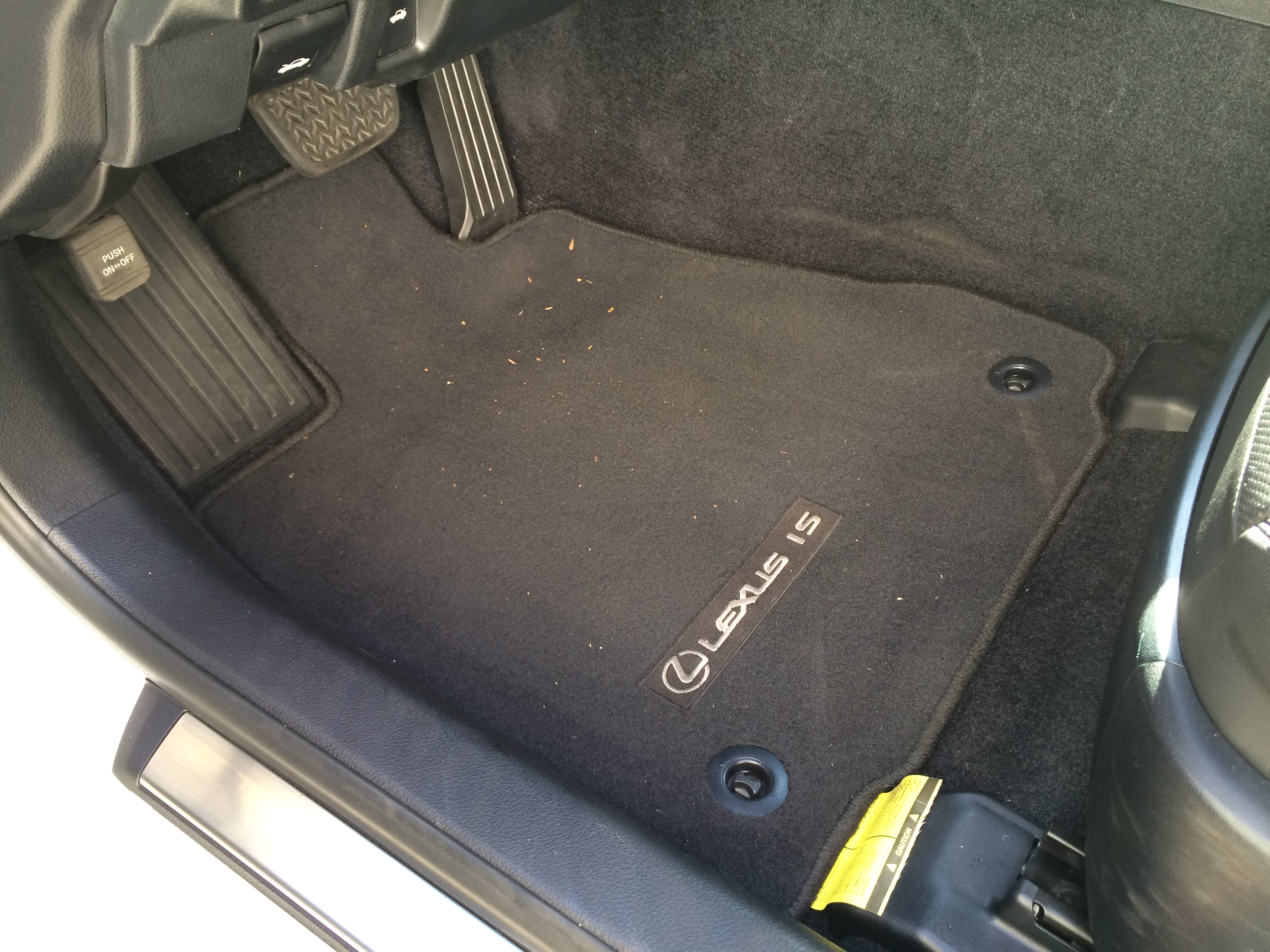 Lexus es 350 rubber floor mats - 2014 Lexus Is 250 All Weather Floor Mats My Automotive Adventures