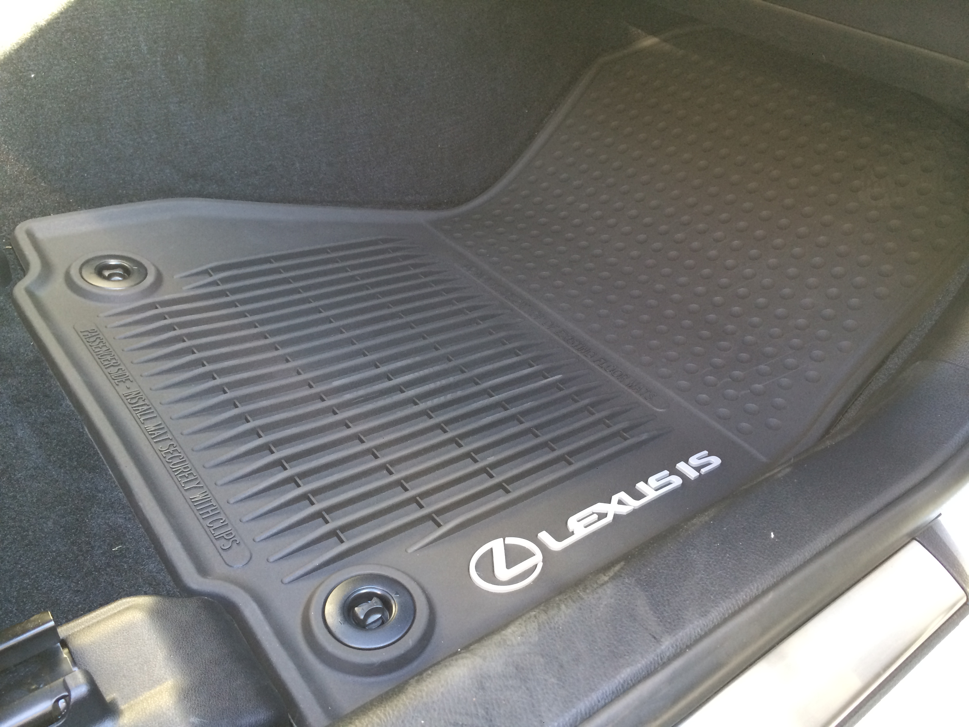 photo x lexus of mats vs floor weather all mat weathertech